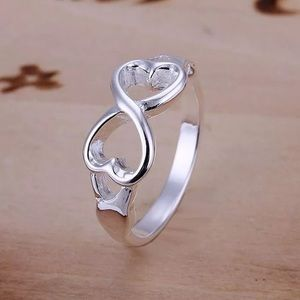 Jewelry - NEW Infinity 925 silver Heart Ring!